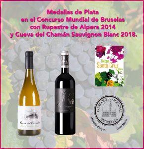 Bodega Santa Cruz de Alpera consigue dos medallas de plata en el Concurso Mundial de Bruselas