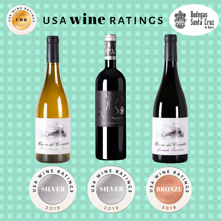 """En este momento estás viendo Bodega Santa Cruz de Alpera consigue tres medallas en los premios """"USA Wine Ratings 2019"""""""