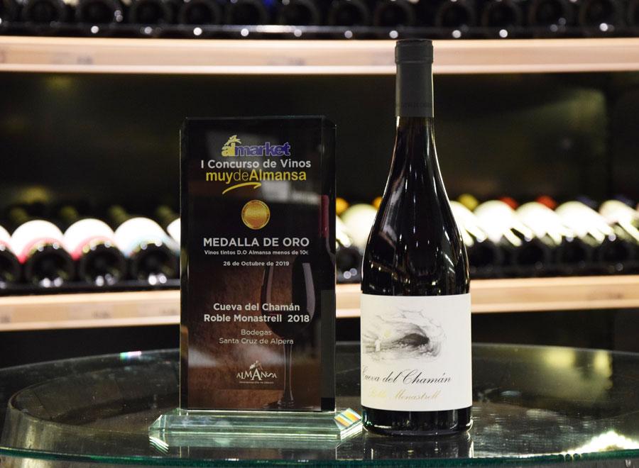 """Cueva del Chamán Roble Monastrell se lleva el premio al """"Mejor Vino de Almansa"""" en el Concurso de Vinos de Almarket"""