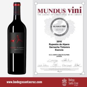 Lee más sobre el artículo Rupestre de Alpera Esencia consigue una medalla de plata en los Mundus Vini 2021
