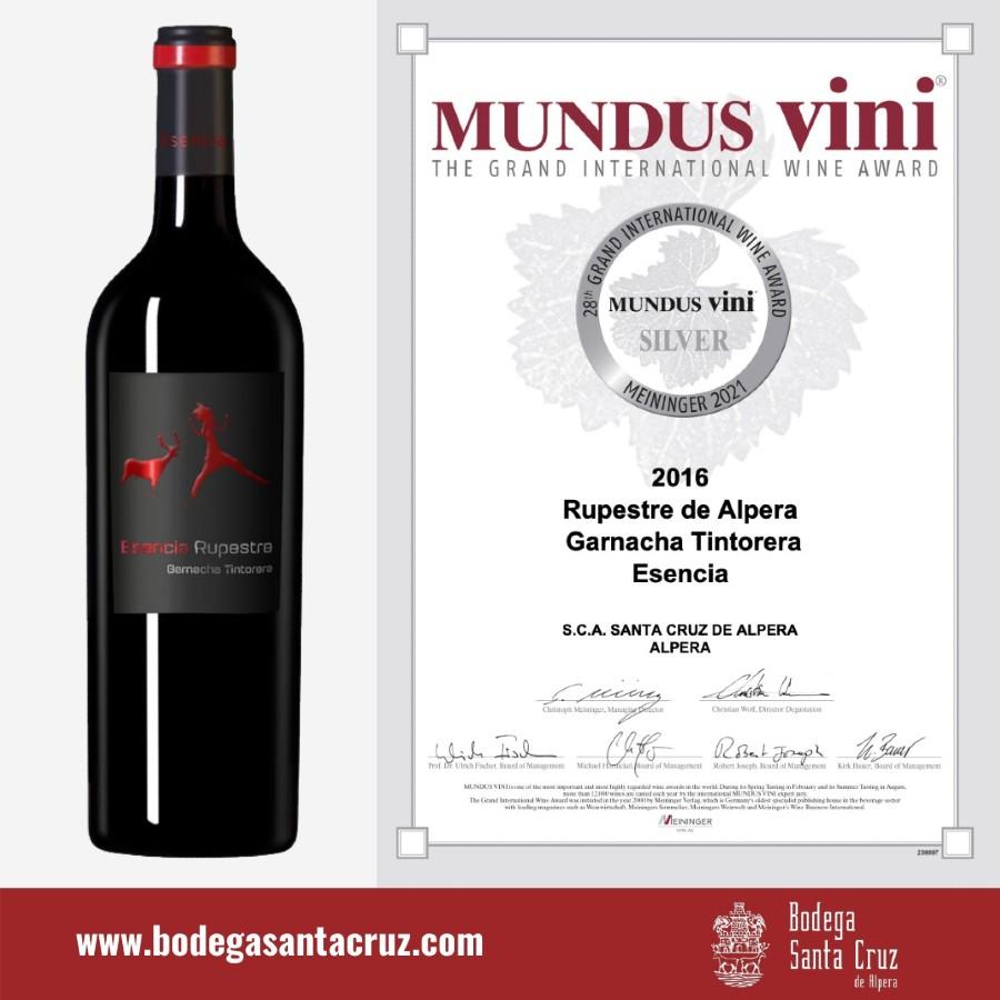 Rupestre de Alpera Esencia consigue una medalla de plata en los Mundus Vini 2021